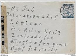55- 25 - Enveloppe Envoyée De Wels à La Croix-Rouge Genève Censure 1946 - 1945-60 Briefe U. Dokumente
