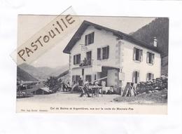 (CPA : 14 X 9)  -  Col De Balme Et Argentières, Vus Sur La Route Du Mauvais-Pas - Sonstige Gemeinden