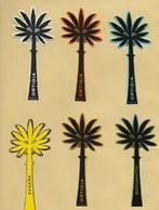 6 X Cartes Parfumées Palmier Perfume Cards ORTIGIA SICILIA * Toutes Différentes *** 1 EX - Perfume Cards