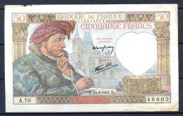456-France Billet De 50 Francs 1941 E A70 - 1871-1952 Circulated During XXth