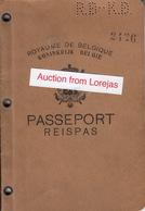 Belgium , Belgique , Belgie Passport ,  Reisepass , Paspoort , Passeporta , Reispas 1929 - Historical Documents