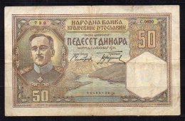 548-Yougouslavie Billet De 50 Dinara 1931 CO620 - Jugoslavia