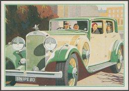 Advertising - Humber Snipe 80 - J Arthur Dixon Postcard - Passenger Cars