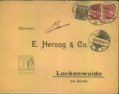 """1891, Registered Letter From KOPENHAGEN With Interesting """"""""R"""""""" Stamp And Better Franking By 16 Ore Arms Sent To LUCKENWA - Zonder Classificatie"""