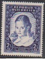 """Österreich 1952:  """"Intern.Kinderkorrespondenz"""" LUXUS Postfrisch - 1945-.... 2nd Republic"""