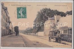 CPA SAINT GERMAIN EN LAYE 78 AVENUE DE POISSY STATION DE TRAMWAY - St. Germain En Laye