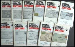 PHIL. LITERATUR Postal History Auctions, 11 Verschiedene Auktionskataloge, 1972-1980, In Englisch - Philatelie Und Postgeschichte