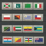 United Nations NY 1984 Flags  Y.T. 416/431 ** - New York – UN Headquarters