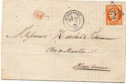 Haut-Rhin - LAC Affr N° 38 Obl GC 370 - Càd Type 17 Beaucourt (à Destination Alsace-Lorraine Annexée) - 1849-1876: Klassik