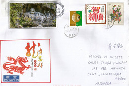 Happy New Year From China ! , Belle Lettre  Adressée Andorra, 2018, Avec Timbre à Date Arrivée - Nouvel An Chinois