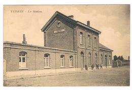 CPA NAMUR VEDRIN - La Station - Gare Chemin De Fer - Façade Et Quelques Personnes - Namur