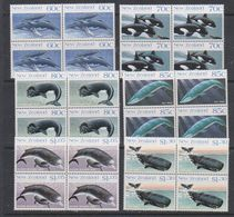 Ross Dependency 1988 Whales 6v Bl Of 4  ** Mnh (39836A) - Ross Dependency (Nieuw-Zeeland)