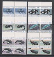 Ross Dependency 1988 Whales 6v Bl Of 4 (+margin) ** Mnh (39836B) - Ross Dependency (Nieuw-Zeeland)