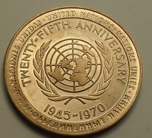 1970 - Twenty-Fifth Anniversary Nations Unies, 1945/1970 - Jetons En Medailles