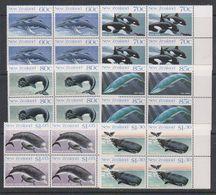 Ross Dependency 1988 Whales 6v Bl Of 4 (+margin) ** Mnh (39836C) - Ongebruikt
