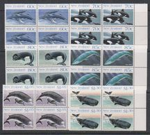 Ross Dependency 1988 Whales 6v Bl Of 4 (+margin) ** Mnh (39836C) - Ross Dependency (Nieuw-Zeeland)
