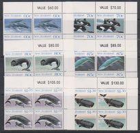Ross Dependency 1988 Whales 6v Bl Of 4 (corner) ** Mnh (39836D) - Ross Dependency (Nieuw-Zeeland)