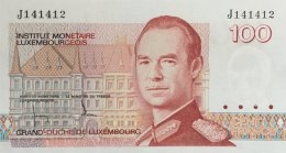 Luxemburg 100 Francs, P-58a (1986) - UNC - Luxembourg