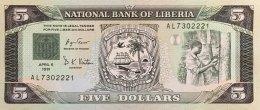 Liberia 5 Dollars, P-20 (6.4.1991) - UNC - Liberia