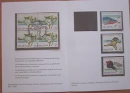 Enveloppe Suisse - Pro Juventute 1997 - Gui - Épinoche - Grenouille - Timbres