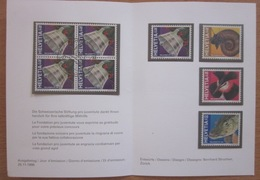 Enveloppe Suisse - Pro Juventute 1998 - Brochet - Grèbe - Cloches - Timbres