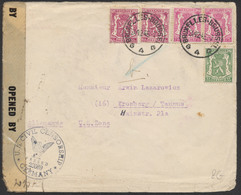 Lettre De Guerre (40-45) Voyagé De Bruxelles 24/12/46 Vers Kronberg/Taunus (Allemagne U.S. Zone) + Censure Militaire - Covers