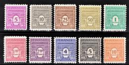 FRANCE 1944 - SERIE Y.T. N° 620 A 629 - 10 TP NEUFS* - France