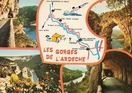 LES GORGES DE L ARDECHE...edit   Cellard - Cartes Géographiques