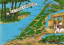 La Cote Landaise   Edit Chatagneau - Cartes Géographiques