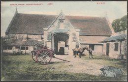 Abbey Barn, Glastonbury, Somerset, C.1905 - M J Ridley Postcard - England