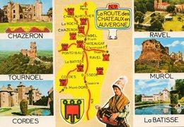 La Route Des Chateaux En Auvergne..edit   DU LYS - Cartes Géographiques