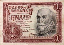 SPAGNA-ESPANA-1 PESETA 1953 P-144 - 1-2 Pesetas