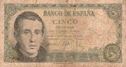 SPAGNA-ESPANA-5 PESETAS 1951 P-140 - [ 3] 1936-1975 : Regime Di Franco
