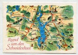 GERMANY - AK 329203 Rund Um Den Schwielochsee - Carte Geografiche