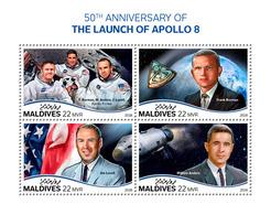 Maldives. 2018 50th Anniversary Of The Launch Of Apollo 8. (706a) - Space