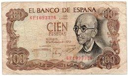 SPAGNA-ESPANA-100 PESETAS 1970  P-152 - [ 3] 1936-1975 : Regime Di Franco