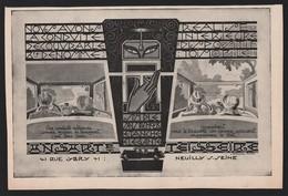 Publicité Papier 1927 Automobile ANSART & TEISSEIRE Neully Sur Seine Automobiles Voiture - Advertising