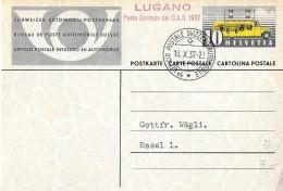 """123 - 37 - Entier Postal Avec Oblit Spéciale """"Lugano Festa Centrale Del C.A.S. 1937"""" - Marcophilie"""