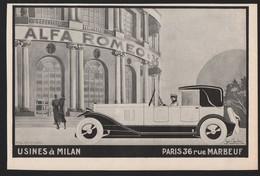 Pub Papier 1926 Automobile ALFA ROMEO  Voiture Tacot Traction Automobiles - Advertising
