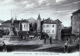Lens La Place En 1850 Eglise Des Antonins Hotel De Ville (LOT AE10) - VS Valais