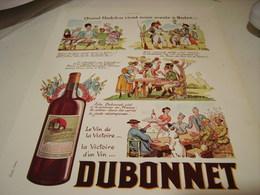 ANCIENNE PUBLICITE VIN TONIQUE DUBONNET QUAND MADELON 1938 - Alcoholes