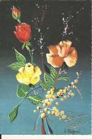 Carte  De  Bonne Fete Avec Un Bouquet De Roses 3 Couleurs - Fêtes - Voeux