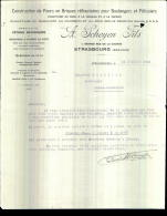 18401-facture-10444  Construction De Fours A.scheyen Fils à Strasbourg M.gaillard Boulanger à Condé En Barois 21-07-1931 - France