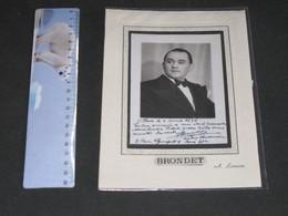 ADONIS BRONDET +- DEDICACE DATEE DU 28/4/1938 - PARIS - Dédicacées