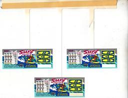 FDJ FRANÇAISE DES JEUX PUBLICITÉ PLV 1 MOBILE DE CAISSE 20X23,5cm ( 3 SURF) GRATTAGE JEUX - NOTRE SITE Serbon - Advertising