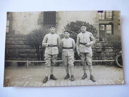 GROUPE De MILITAIRES : Carte Photo Dos Divisé - Inscription 501 - Regiments