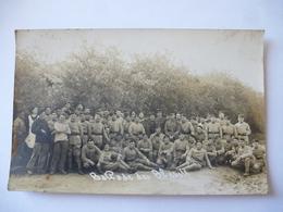 GROUPE De MILITAIRES : Carte Photo Dos Divisé - Inscription 5 Et 46 - Regiments