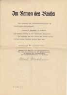 Dokument Autogramm Martin Mutschmann / Der Hitler Sachsens - Guerre 1939-45