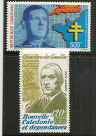Hommage Au General De Gaulle, 2 Timbres Neufs ** Nouvelle-Caledonie Et Gabon. Côte 15,00 € EUR - De Gaulle (Generaal)