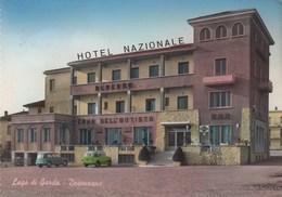 DESENZANO-BRESCIA-LAGO DI GARDA-HOTEL =NAZIONALE=-CARTOLINA VERA FOTOGRAFIA-VIAGGIATA IL 6-7-1962 - Brescia